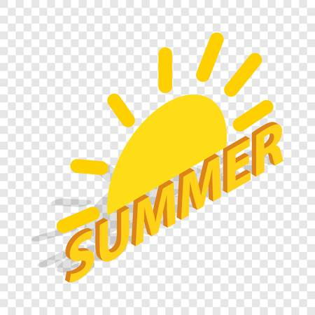 Sun and summer isometric icon