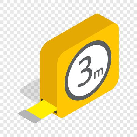 Tape measure roulette isometric icon