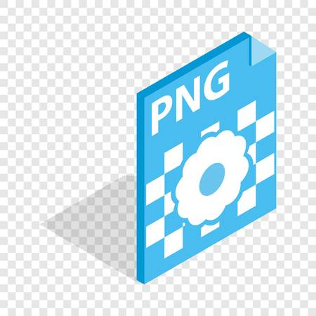 png: PNG image file extension isometric icon