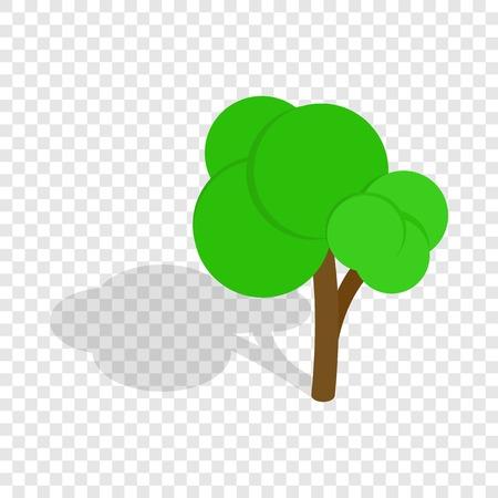 Tree isometric icon Illustration