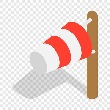 Windsock isometric icon