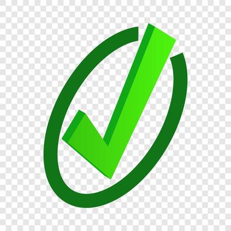 Tick isometric icon