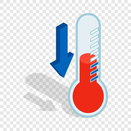 Thermometer with low temperature isometric icon Illusztráció