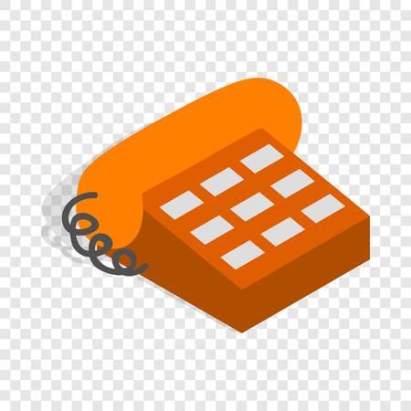 handset: Phone handset isometric icon Illustration