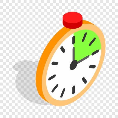 Alarm clock isometric icon