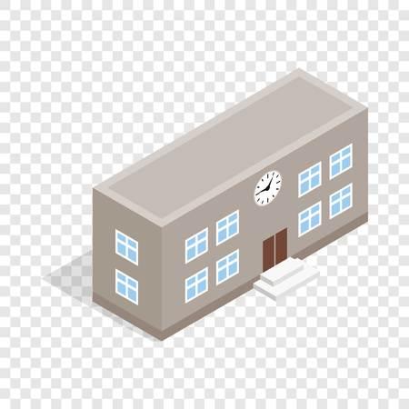 apartment bell: School building isometric icon
