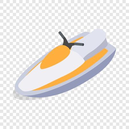 Jet ski isometric icon
