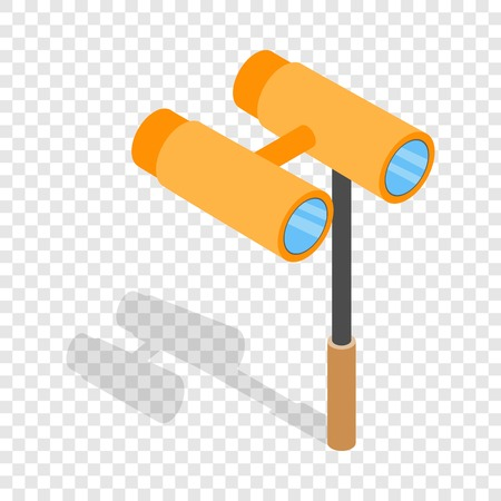Opera glasses isometric icon