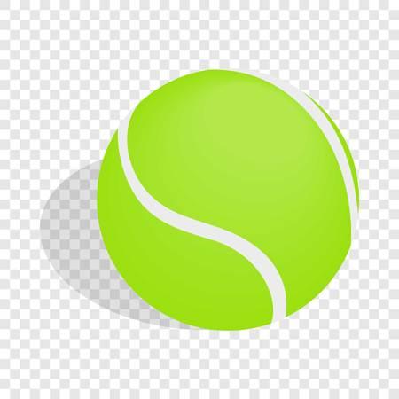 tennisball: Green tennis ball isometric icon Illustration