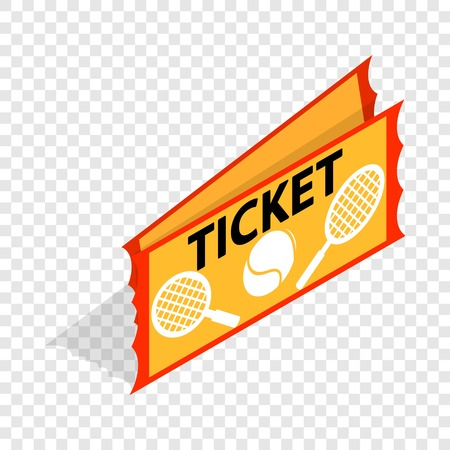 Tennis ticket isometric icon