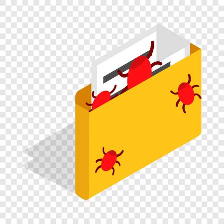Infected email isometric icon