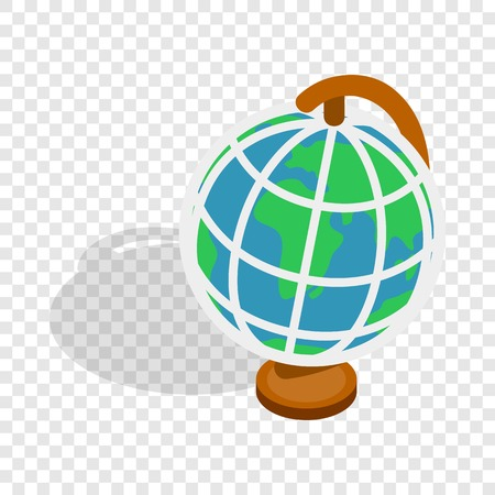 Terrestrial globe isometric icon Illustration
