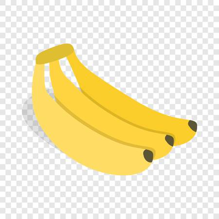Banana isometric icon Illustration