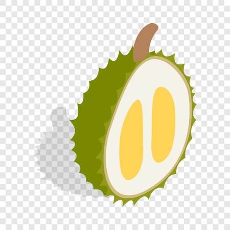 Thai dessert: Durian isometric icon