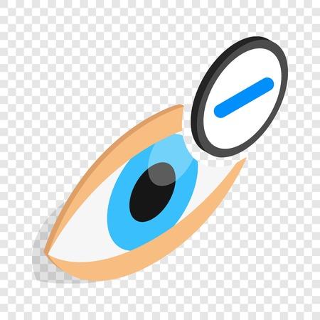 myopia: Vision myopia isometric icon