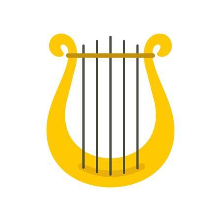 Harp icon isolated on white background vector illustration