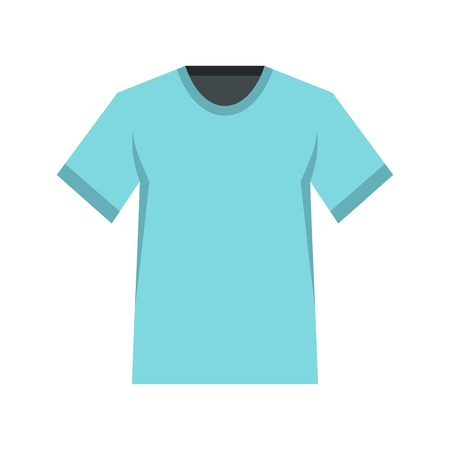 Men tennis t-shirt icon, flat style