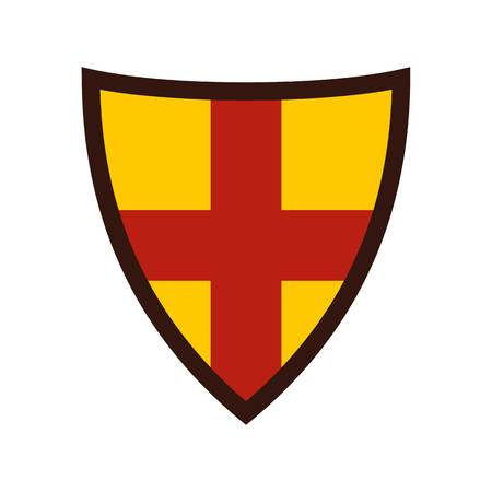 combatant: Shield for protection icon, flat style Illustration