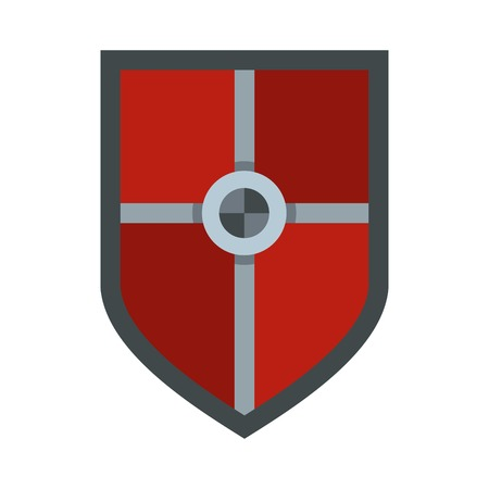 combatant: Shield for fight icon, flat style Illustration