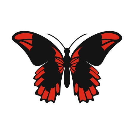 Beautiful butterfly icon, flat style