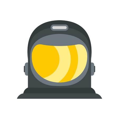 meteorite: Astronaut icon, flat style Illustration