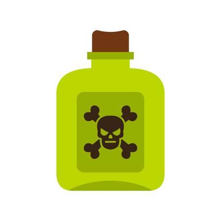 poison: Poison icon, flat style