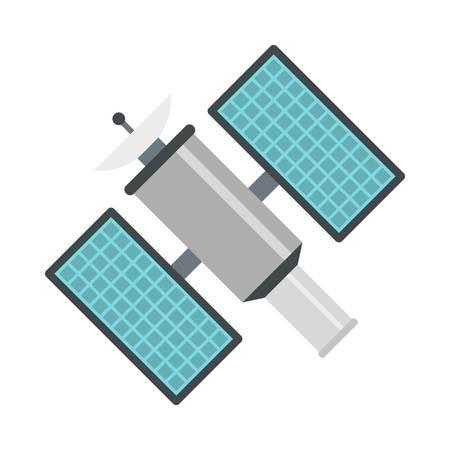 Icône satellitaire, style plat