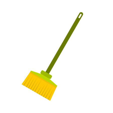 Broom icon, flat style