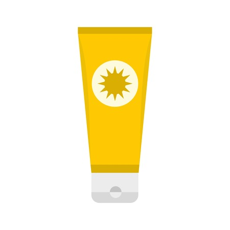 Sunscreen icon, flat style