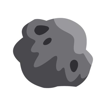 devastation: Asteroid icon, flat style Illustration