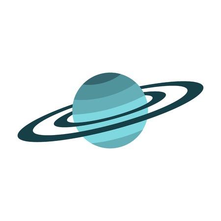 Saturn-Ikone, flacher Stil Standard-Bild - 73359052