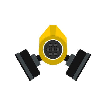 Gas mask icon in flat style isolated on white background vector illustration