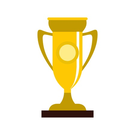 Winning cup icon, flat style Illustration