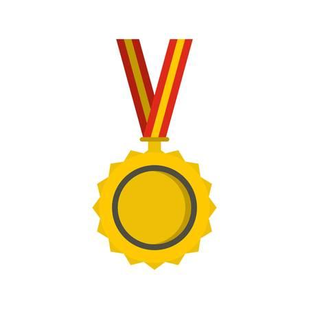 Medal icon, flat style Illustration