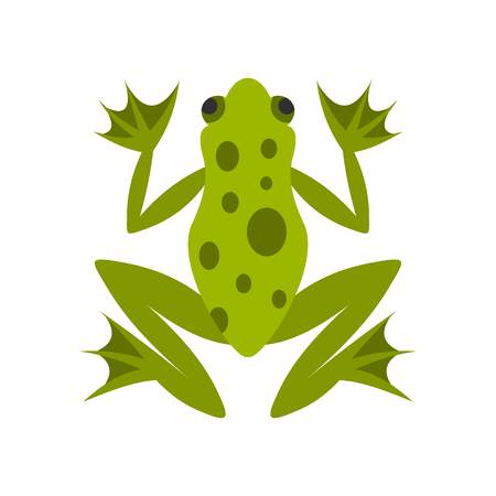 Frog icon, flat style