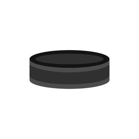 puck: Hockey puck icon, flat style Illustration