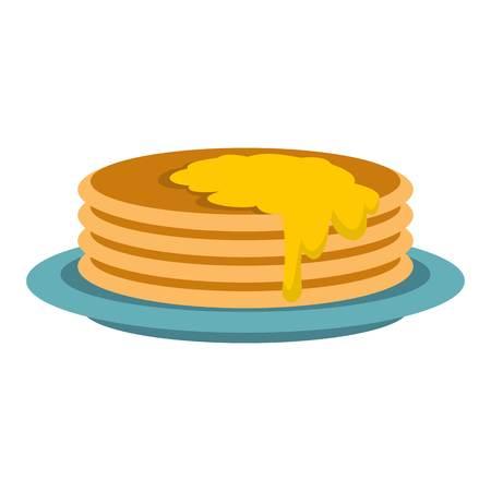 provision: Pancakes icon, flat style