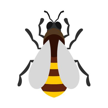 beeswax: Bee icon, flat style