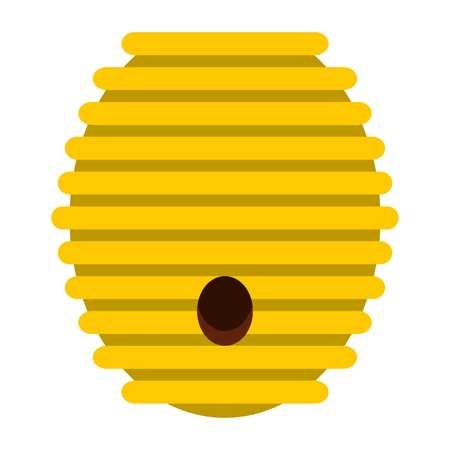 Beehive icon, flat style
