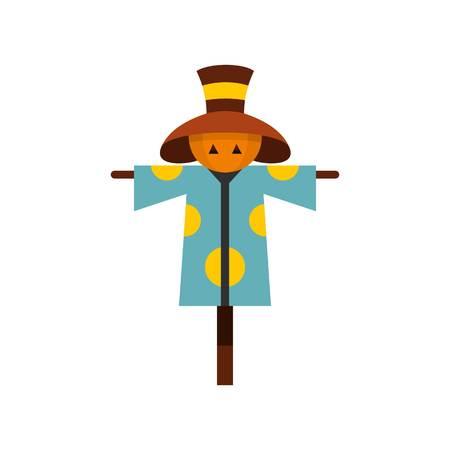 Scarecrow icon, flat style Illustration