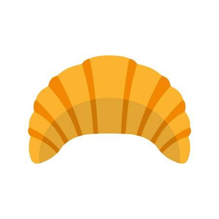 Croissant icon, flat style
