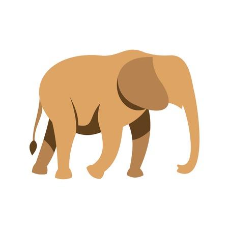 srilanka: Elephant icon, flat style