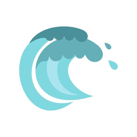 tenth: Tenth wave icon, cartoon style Illustration