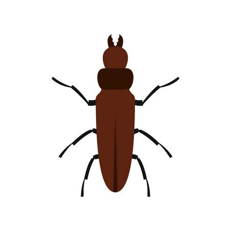 Cockroach icon, flat style
