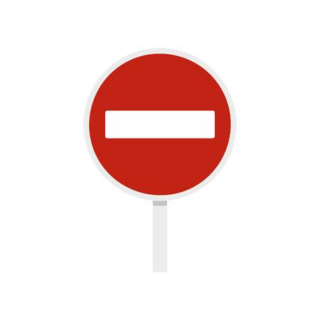 do not enter: No entry traffic sign icon, flat style