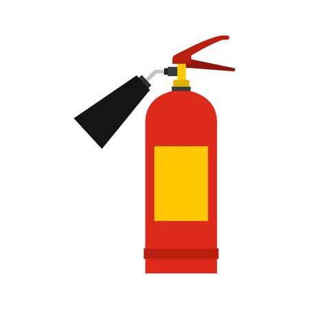 Red fire extinguisher icon, flat style