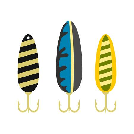 Fishing lure icon, flat style