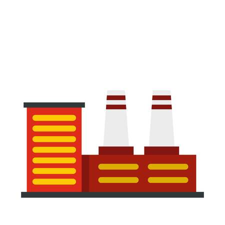 Power plant icon, flat style