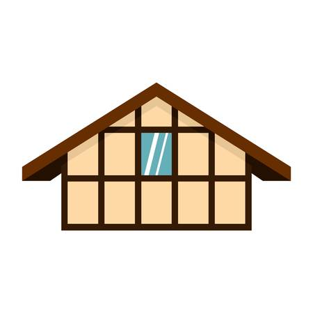 Icône maison allemande, style plat Vecteurs