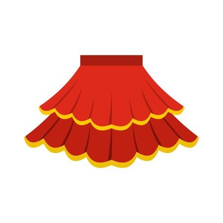 スカート アイコン、フラット スタイル